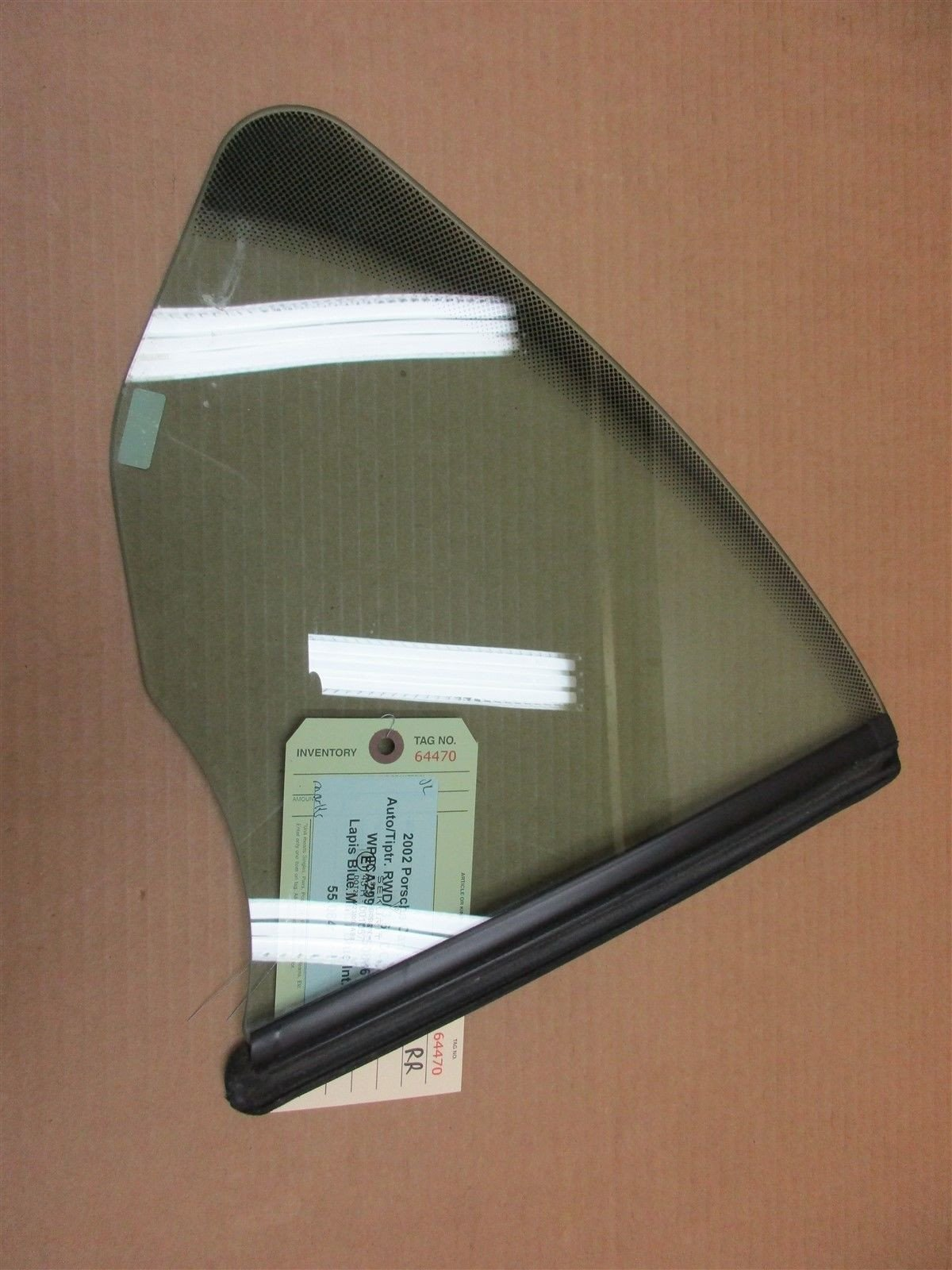 02 Carrera 911 RWD Porsche 996 Cabrio R REAR GLASS WINDOW PASSENGER 55,084