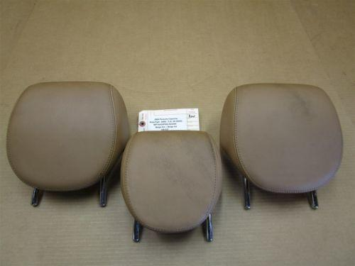 05 Cayenne AWD Porsche 955 3 REAR Beige Leather SEAT HEADRESTS 148,537