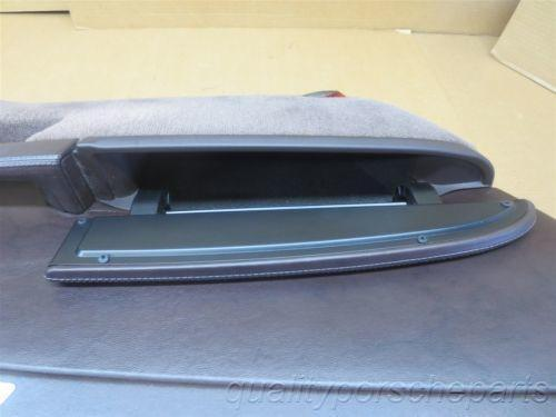 06 Boxster S RWD Porsche 987 L Brown FRONT INTERIOR DOOR PANEL card 51,164