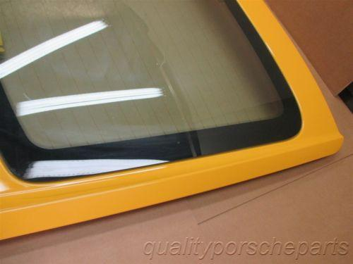 07 Cayman S RWD Porsche 987 Rear Yellow HATCH HOOD + GLASS WINDOW 77,328