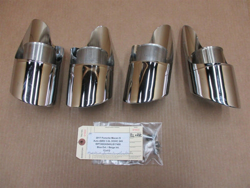 17 Macan S AWD Porsche SEBRING EXHAUST TAIL PIPE TIPS 95B253681 95B253682 13,412