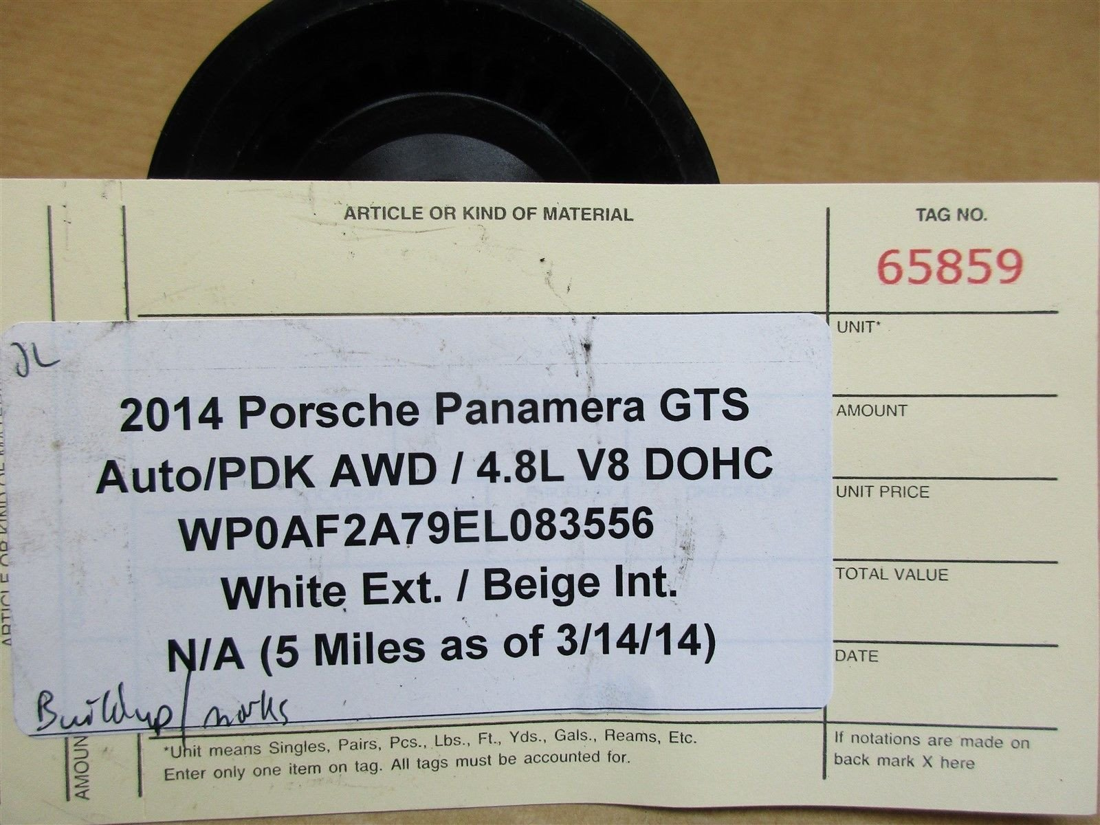 14 Panamera GTS AWD 970 Porsche Engine 4.8 PULLEY 5 N/A