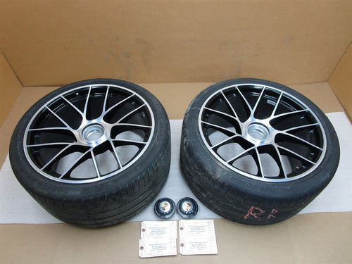 17 Carrera 911 Turbo S AWD Porsche 991 2 REAR RIM WHEELS + HUB CAPS 30,210
