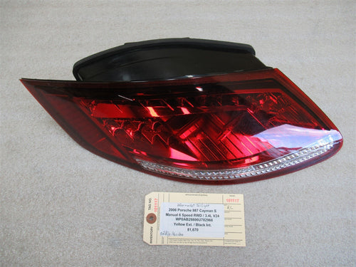 06 Cayman S RWD Porsche 987 L Rear TAILLIGHT AFTERMARKET LED TAIL LIGHT 81,670