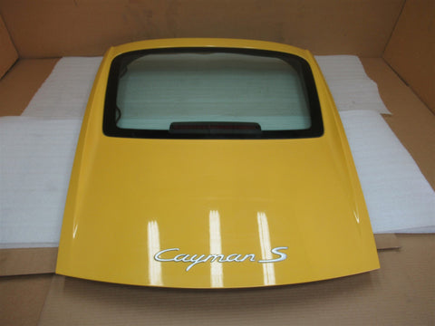 14 Cayman RWD Porsche 981 REAR EXTERIOR HATCH TRIM + WINDOW 98151242101 15,832