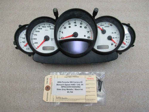 04 Carrera 4S 911 AWD Porsche 996 GAUGE INSTRUMENT CLUSTER Gauges Panel 65,764