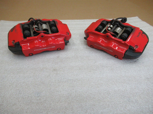 04 Cayenne Turbo Porsche 955 Red REAR BREMBO BRAKE CALIPERS 3L2821 3L2831 41,010