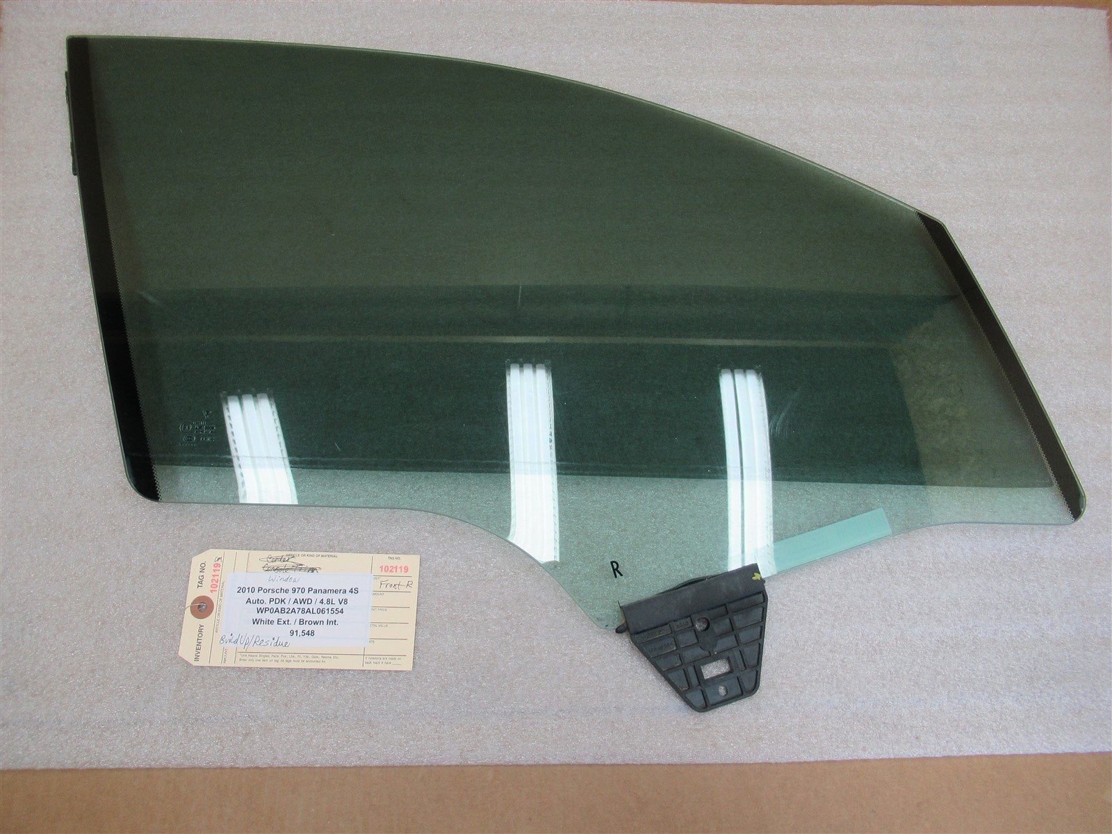 10 Panamera 4S AWD Porsche 970 R FRONT SOLIVER DOOR WINDOW 43R-00083 91,548