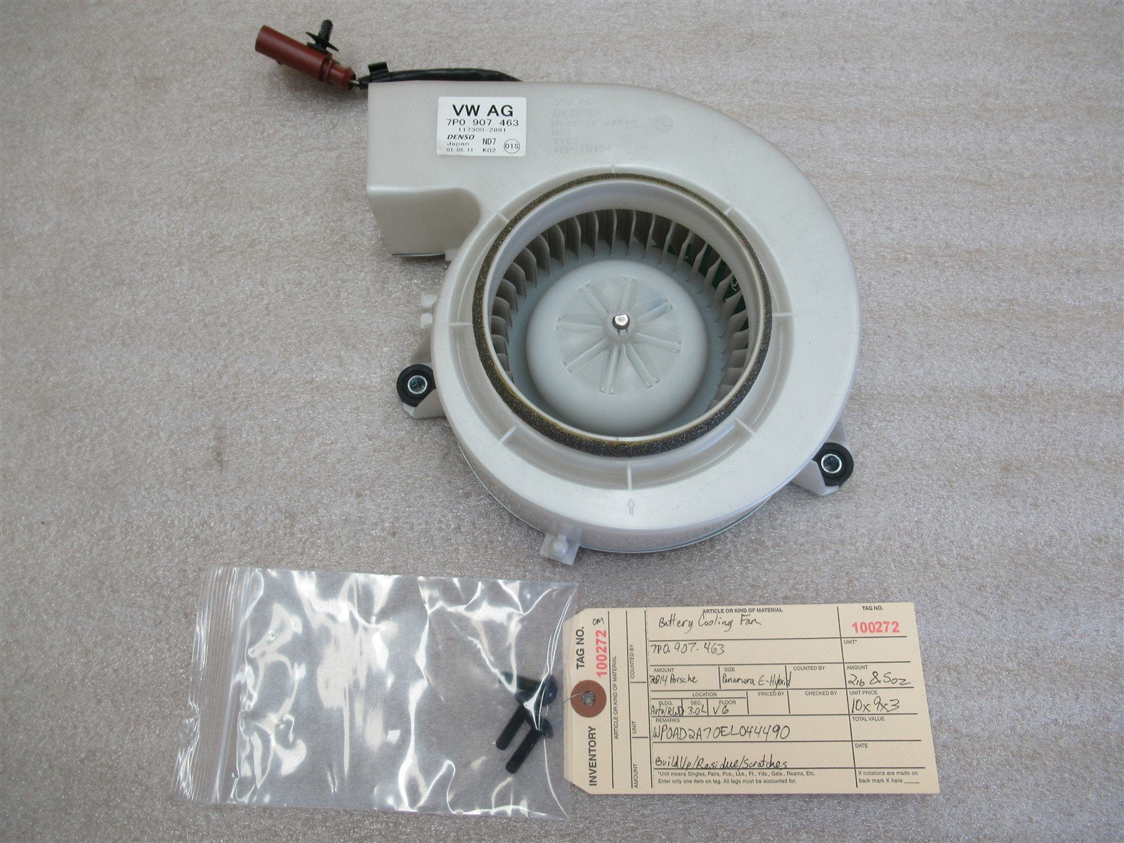14 Panamera S E-Hybrid RWD Porsche 970 BATTERY BLOWER FAN MOTOR 7P0907463 43,200