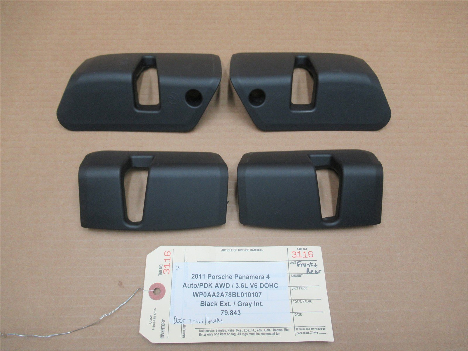 11 Panamera 4 AWD Porsche 970 FRONT REAR 4 DOOR TRIMS 97053658100 79,843
