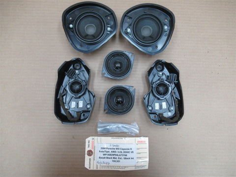 04 Boxster RWD Porsche 986 L R 2 DASH AUDIO SPEAKERS 110,677