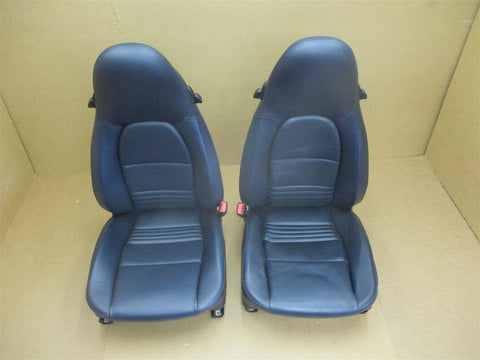 00 Boxster S RWD Porsche 986 L LEFT RIGHT R Black Leather 8-WAY SEATS 36,790