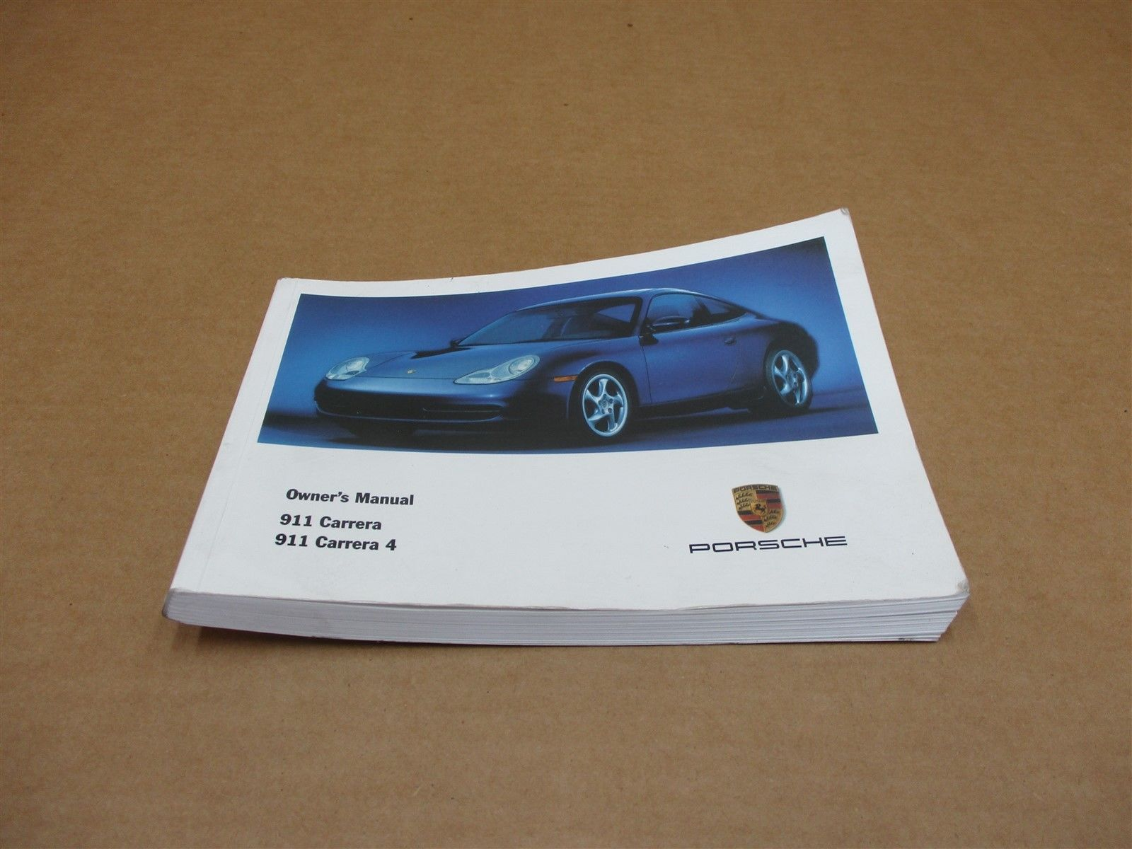 01 Carrera 911 RWD Porsche 996 Coupe BOOKLET OWNER'S MANUAL 43,308