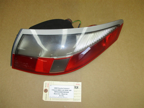 00 Carrera 4 911 AWD Porsche Cabrio 996 R TAIL LIGHT TAILLIGHT PASSENGER 81,172