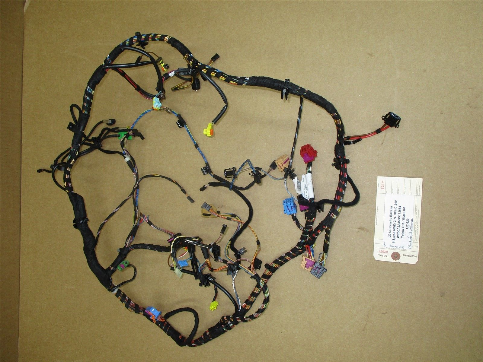 82971 A Wiring Harness Free Download Porsche Trailer 13 Boxster Rwd 981 Dash Wire 112629 Parts At