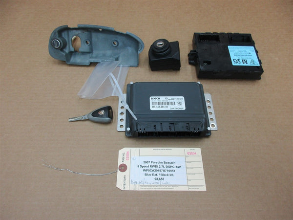 07 Boxster Porsche 987 KEY IMMOBILISER SET 99761817212 ENGINE COMPUTER  98,658