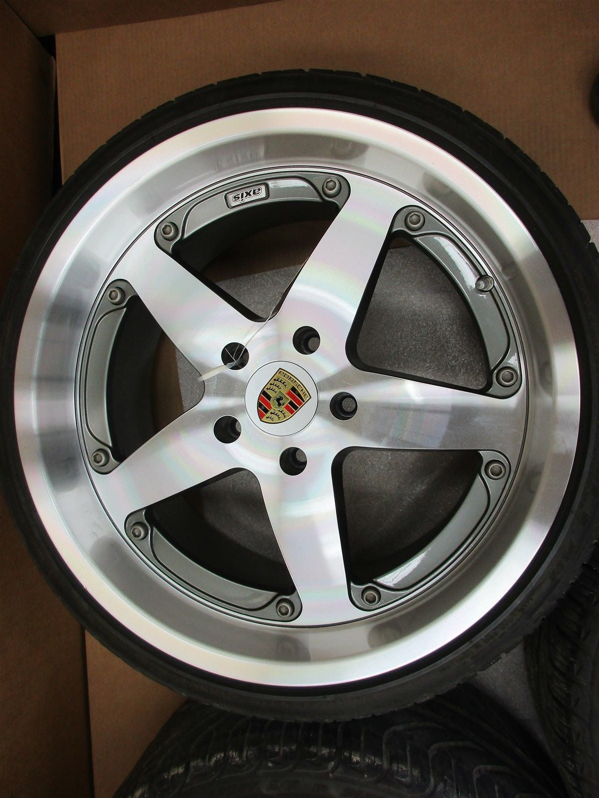 "07 Cayman S Porsche 987 AFTERMARKET AXIS L LEFT R RIGHT RIMS WHEELS 3 20"" 37,499"