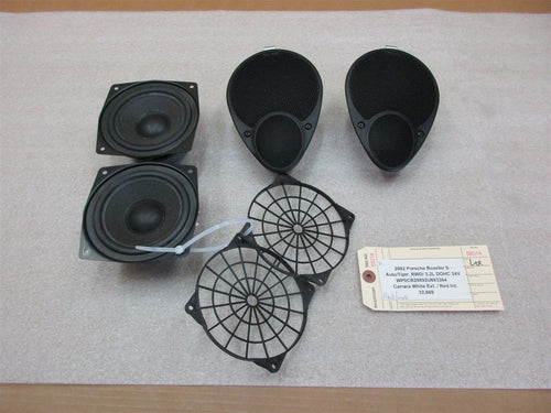 02 Boxster S Porsche L R HAES 4 Black SPEAKERS 99664503802 99664503801 32,869