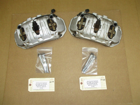 17 Cayenne Turbo AWD Porsche 958 FRONT BREMBO BRAKE CALIPERS 7PP615123C 9,356
