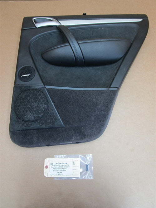 08 Cayenne GTS AWD Porsche 957 R REAR INTERIOR DOOR PANEL 7L5867212 195,464