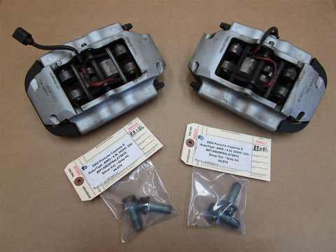 02 Boxster RWD Porsche R L REAR BRAKE CALIPERS 998352422 998352421 gray 60,072