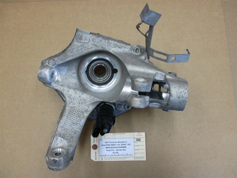 11 Panamera 4 AWD 970 Porsche L FRONT HUB + STEERING KNUCKLE 97034115704 46,434