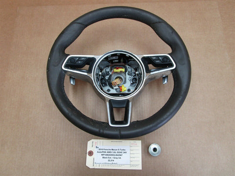 10 Boxster RWD Porsche 987 3 SPOKE STEERING WHEEL 99734780332 Leather 40,007
