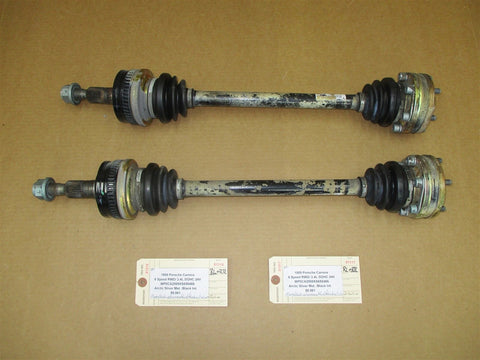 14 Cayenne S AWD Porsche 958 L R REAR DRIVE SHAFT AXLES 7P0501201D 22,328