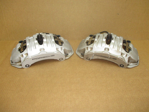 14 Cayenne S AWD Porsche 958 L R FRONT BREMBO BRAKE CALIPERS 7PP615123 22,328