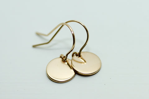 Petite Gold Disc Earrings - Sea and Cake