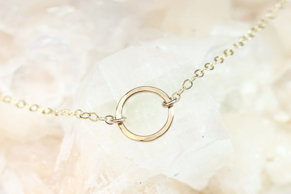 Little Gold Circle Necklace - Sea and Cake