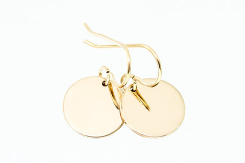 Gold disc earrings - Sea and Cake jewelry