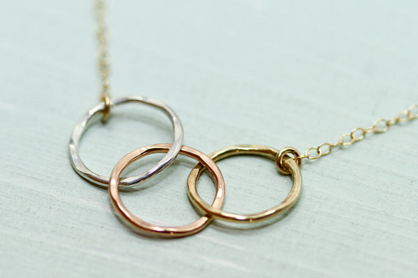 Linked Circle Necklace - Sea and Cake