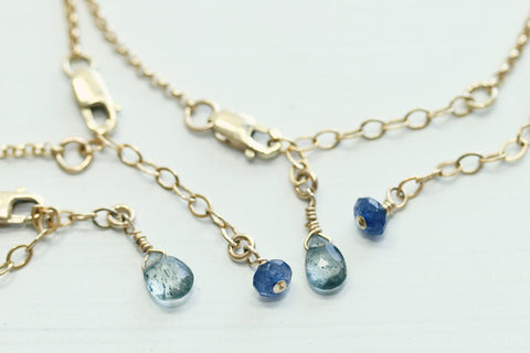 Gemstone Chain Extender - Sea and Cake