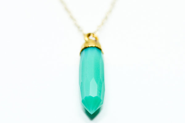 Chrysoprase Spike Necklace - Sea and Cake