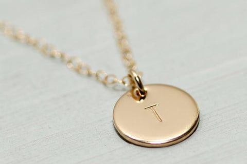 Initial Disc Necklace - Sea and Cake