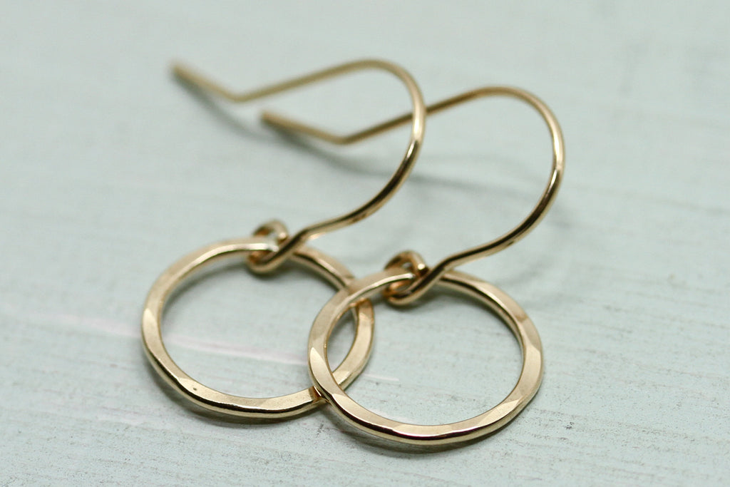 Gold Circle Earrings - Sea and Cake