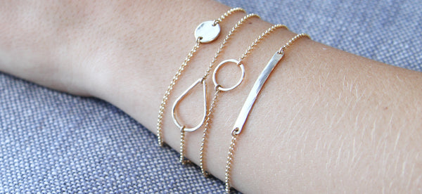 Gold Teardrop Bracelet - Sea and Cake