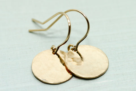 Hammered Disc Earrings - Sea and Cake