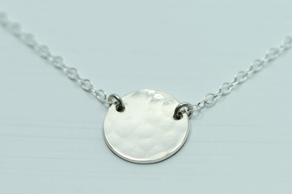 Sterling Silver Disc Necklace - Sea and Cake