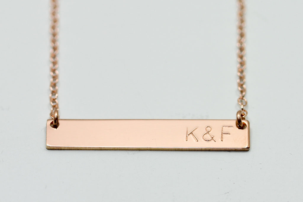 Initial Bar Necklace - Sea and Cake