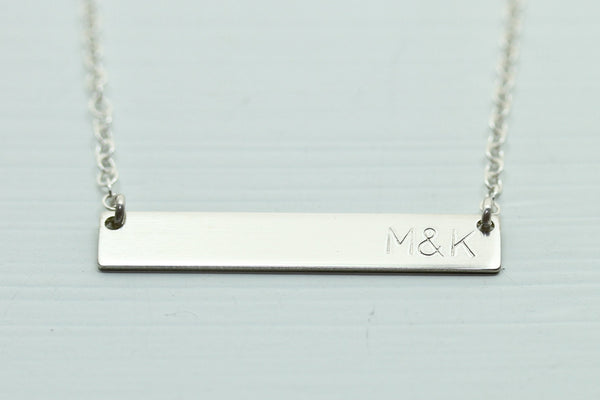 Silver bar necklace - Sea and Cake