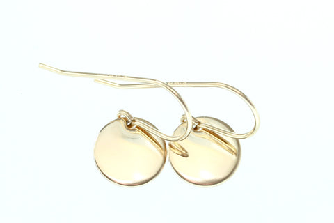 Petite Gold Disc Earrings