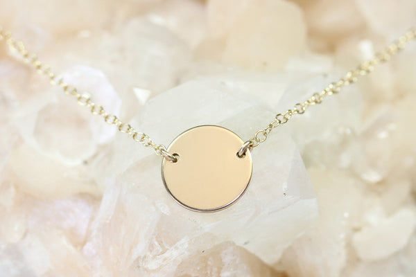 Gold Disc Necklace - Sea and Cake