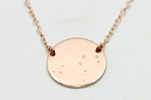 Rose Gold Constellation Necklace - Sea and Cake