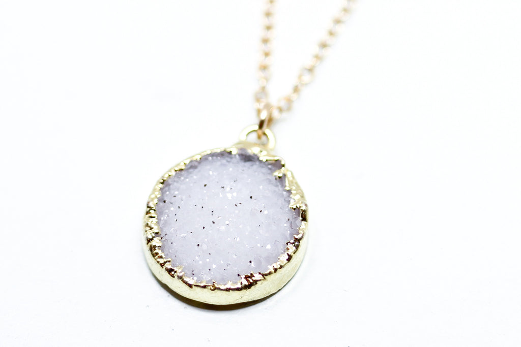 Druzy Necklace - Sea and Cake
