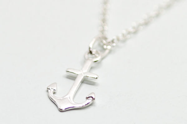 Sterling Silver Anchor Necklace - Sea and Cake