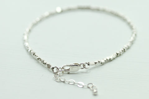 Fine Silver Bracelet- Single - Sea and Cake
