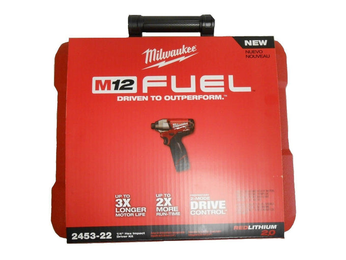 "Milwaukee 2453-22 M12 Fuel 1/4"" 2-Speed Hex Impact Driver Kit"