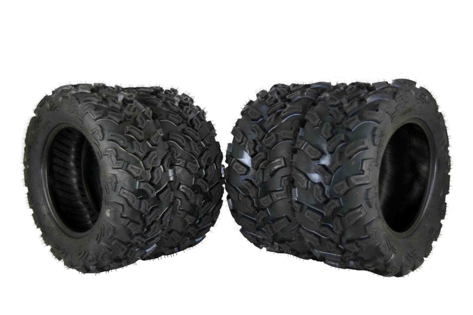 MASSFX SL 27x9-14 27x11-14 4 Tire Kit Dual Compound 6 Ply Tires Set
